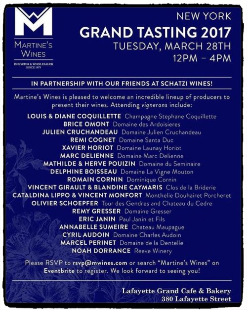 Grand Tasting 2017 Martine's Wines and Schatzi Wines New York